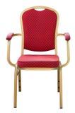 Красный металл стула. Стоковая Фотография