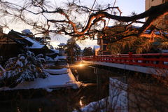 Красный мост Стоковые Изображения