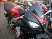 Красный мотоцикл Aprilia Стоковое Фото