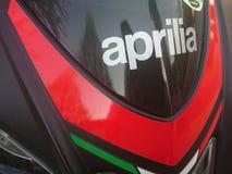 Красный мотоцикл Aprilia Стоковые Фото