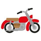 Красный мотоцикл Стоковые Изображения