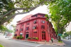 Красный музей дизайна точки, Сингапур Стоковая Фотография RF
