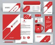 Красный набор клеймя дизайна с стрелкой Стоковые Фотографии RF
