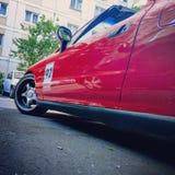 Красный низкий Honda стоковое изображение rf