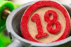 Красный номер bingo стоковое фото