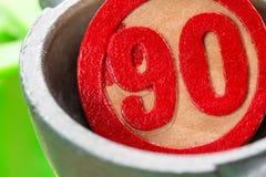 Красный номер bingo стоковое изображение rf