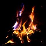 Красный огонь и пламя Стоковые Изображения RF