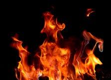 Красный огонь и пламя Стоковые Изображения