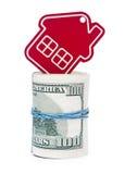 Красный домашний знак Стоковое Фото