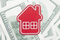 Красный домашний знак Стоковое Изображение RF