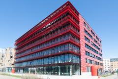Красный дом на оживлении Стоковые Изображения RF