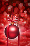 Красный орнамент рождества Стоковая Фотография RF