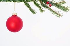 Красный орнамент рождества Стоковые Изображения