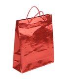 Красный пакет подарка стоковые изображения
