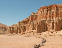 Красный парк штата Калифорния США каньона утеса Стоковая Фотография RF