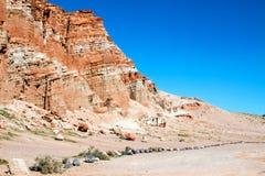 Красный парк штата Калифорния США каньона утеса Стоковое Изображение RF