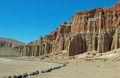 Красный парк штата Калифорния США каньона утеса Стоковое Изображение