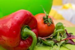 Красный пеец и томат Стоковые Фотографии RF