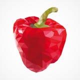 Красный пеец, треугольники, вектор Стоковое Изображение RF