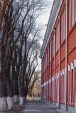 Красный переулок Стоковое Изображение RF
