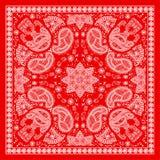 Красный пестрый платок Стоковые Фото