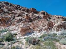 Красный песчаник утесов пустыни Лас-Вегас Невады утесов стоковое изображение rf