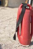 Красный пластиковый томбуй для личной охраны стоковое изображение rf