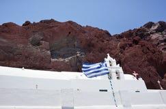 Красный пляж - остров Santorini - Греция Стоковые Фото