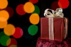 Красный подарок на рождество стоковое изображение