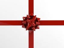 Красный подарок смычка Стоковое Фото