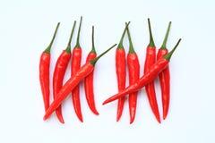 Красный подсчитывать Chili Стоковая Фотография RF