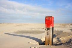 Красный полюс пляжа Стоковое фото RF