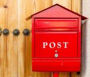Красный почтовый ящик Стоковые Фото
