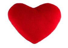Красный подарок сердца изолированный на белизне Стоковые Изображения RF