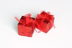 Красный подарок Стоковое Изображение