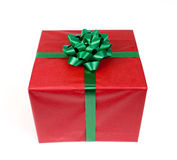 Красный подарок стоковая фотография rf