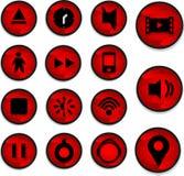 Красный полезный значок Стоковое фото RF