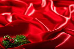 Красный полный фон сатинировки Стоковые Изображения