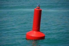 Красный предупреждающий томбуй Стоковая Фотография