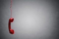 Красный приемник телефона Стоковое Фото