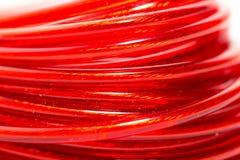 Красный провод как фон Макрос Стоковая Фотография