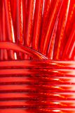 Красный провод как фон Макрос Стоковая Фотография RF
