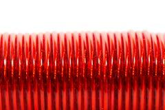 Красный провод как фон Макрос Стоковые Изображения