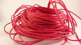 красный провод стоковое изображение