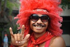 Красное ралли рубашки в Бангкоке Стоковое фото RF