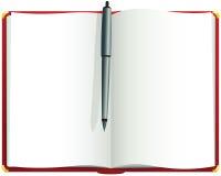 Красный пустой журнал Стоковые Фото