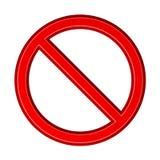 Красный пустой знак запрета Стоковые Фотографии RF