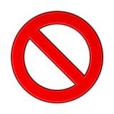 Красный пустой знак запрета иллюстрация вектора