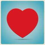 Красный плакат сердца Стоковая Фотография