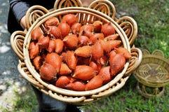 Красный плодоовощ Salacca Стоковое фото RF